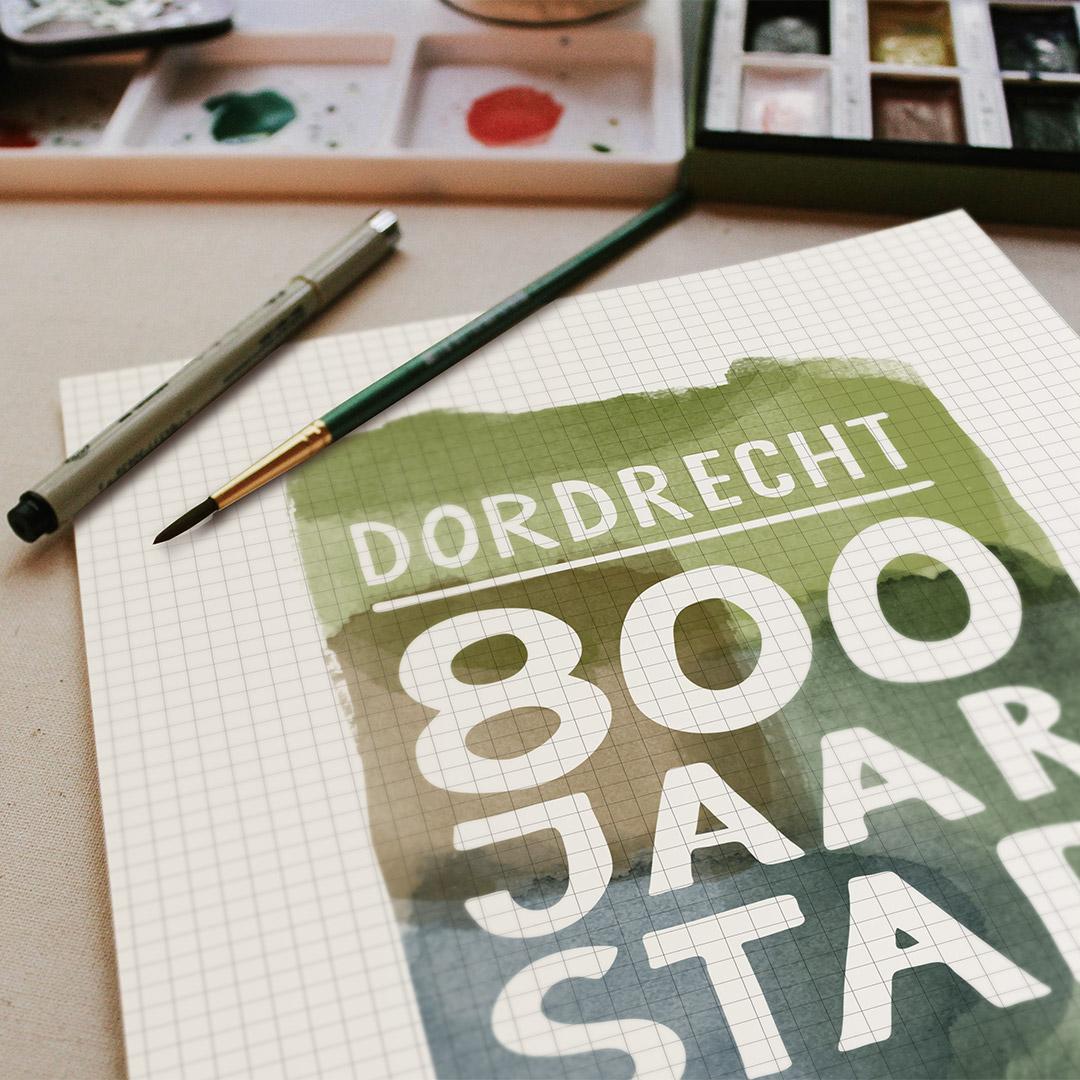Dordrecht 800 Logo Beschikbaar
